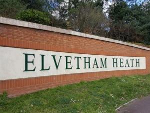 Elvetham Heath Welcome Sign