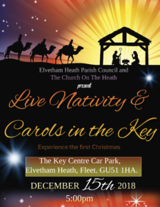 Live Nativity and Carols in the Key advert